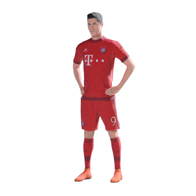 3D Player figure Robert Lewandowski