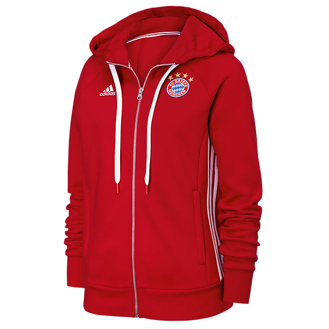 adidas women s hoodie with zipper lifestyle official fc bayern online store. Black Bedroom Furniture Sets. Home Design Ideas