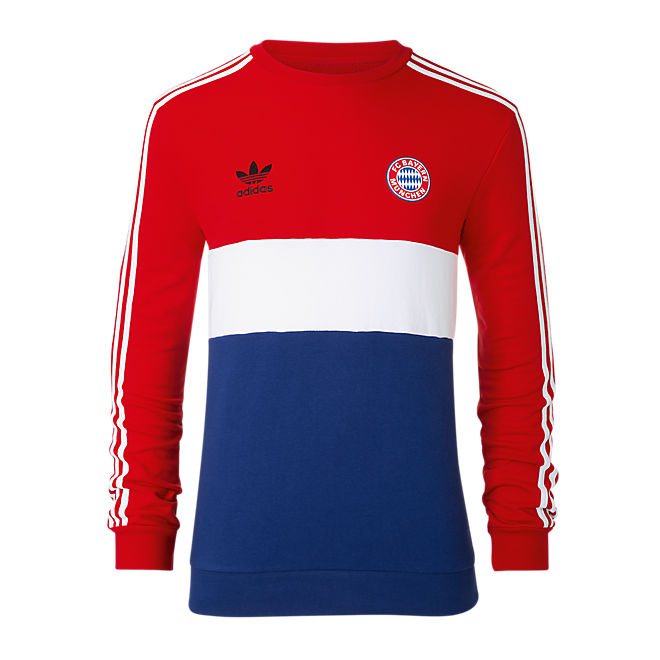 994210ca7f586 Sweatshirt Sweatshirt Store Online Official Fc Bayern Originals Block dqvx1