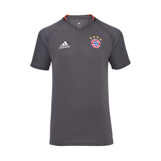 adidas Teamline Kinder Trainingsshirt grau