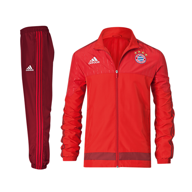 adidas teamline pr sentationsanzug offizieller fc bayern. Black Bedroom Furniture Sets. Home Design Ideas
