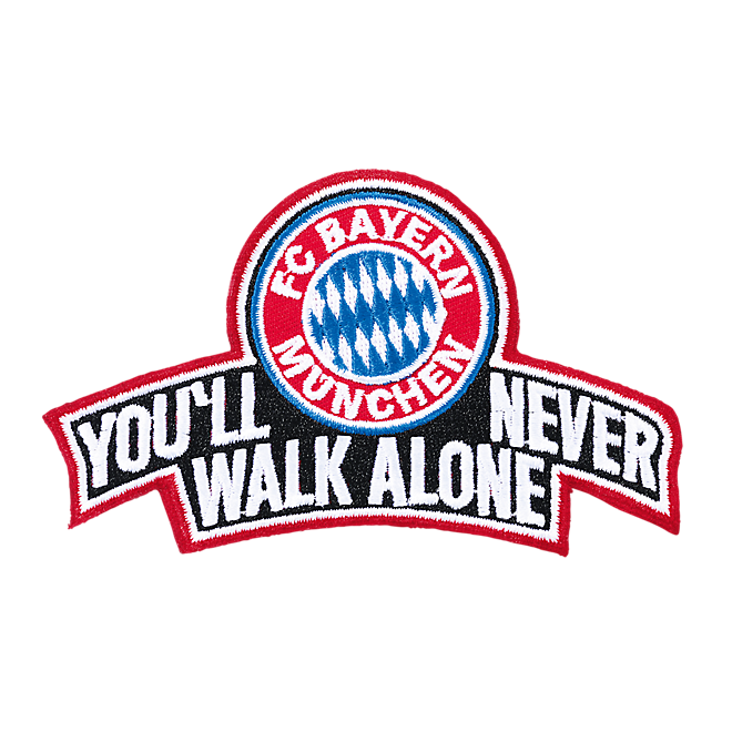 Aufnäher Youll never walk alone