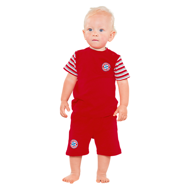 Baby Short-Sleeve Pyjama Set Striped