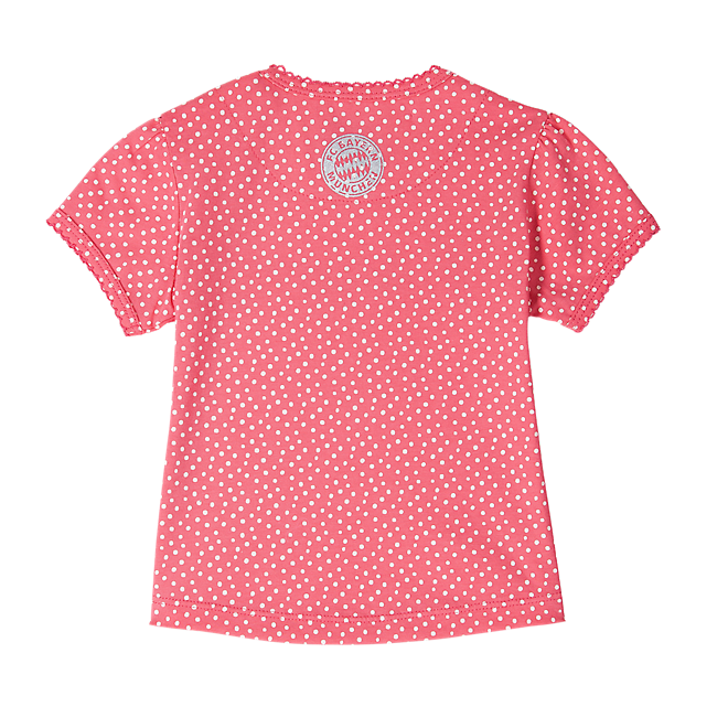 T-Shirt Baby little dots coral red