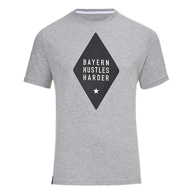 Basketball Shirt Bayern Hustles Harder grey