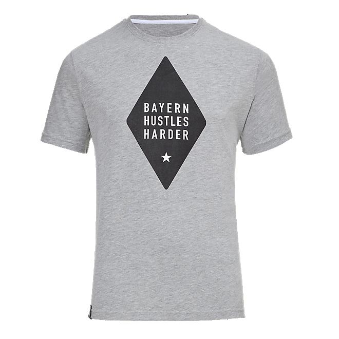 Basketball T-Shirt Bayern Hustles Harder grey
