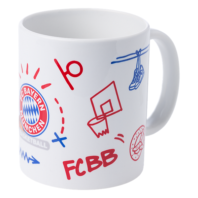Basketball Mug Scribbles
