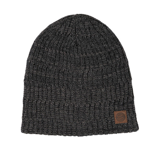 Leather Badge Beanie