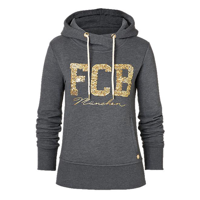 Damen Hoodie FCB München anthrazit
