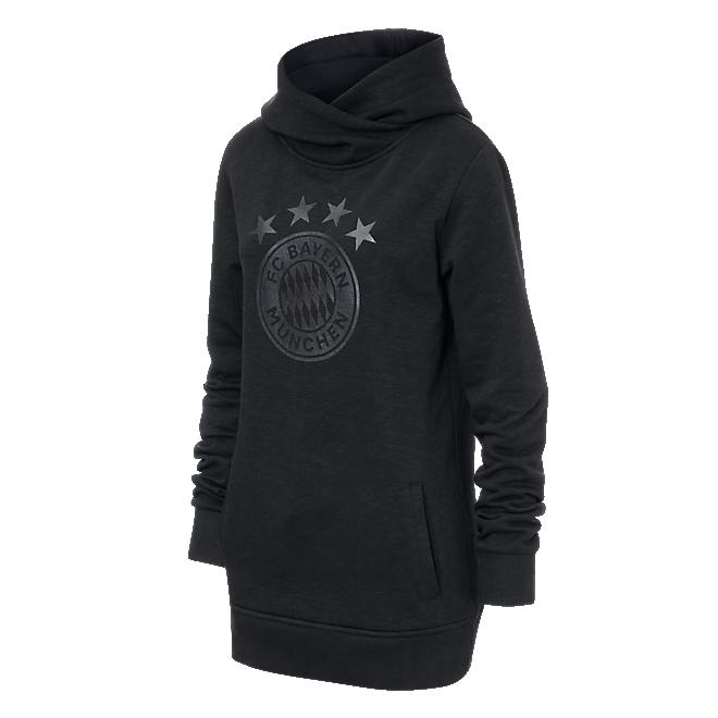 Damen Longhoodie Black Logo