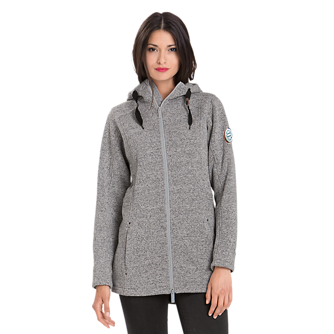 Damen Strickfleece-Jacke