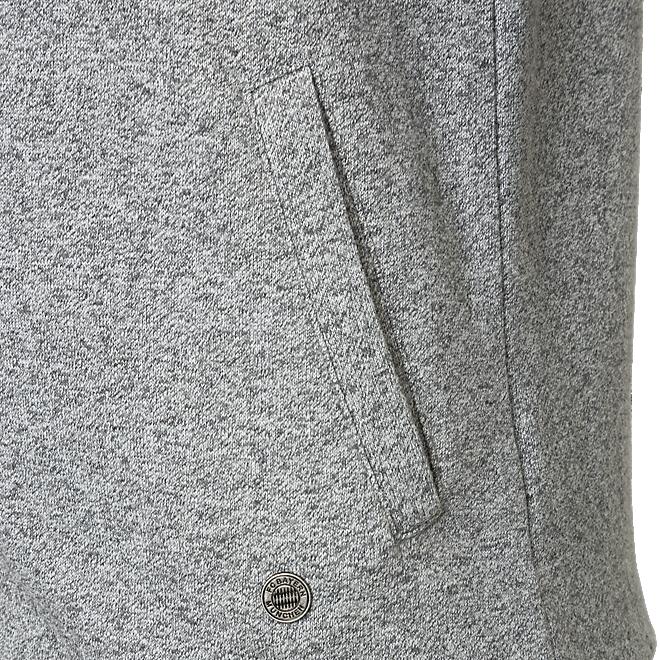 Damen Sweatjacke grau-melange