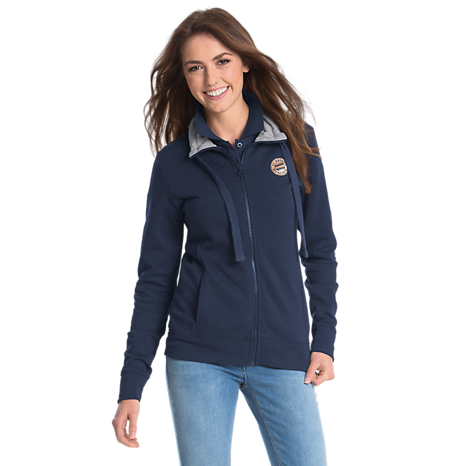 Damen Sweatjacke rose-gold Logo