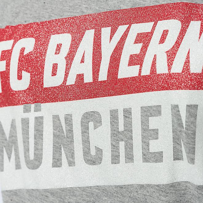 Damen T-Shirt FC Bayern München Glitzer