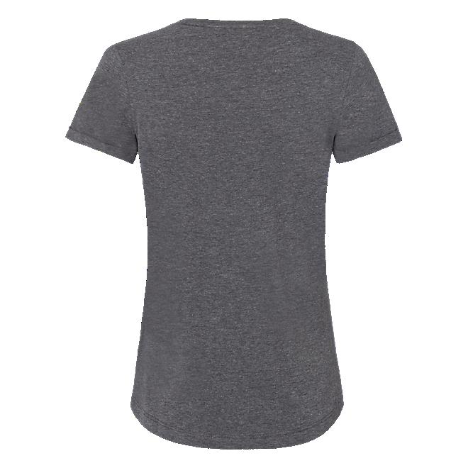 Womens T-Shirt Glitter Logo Grey