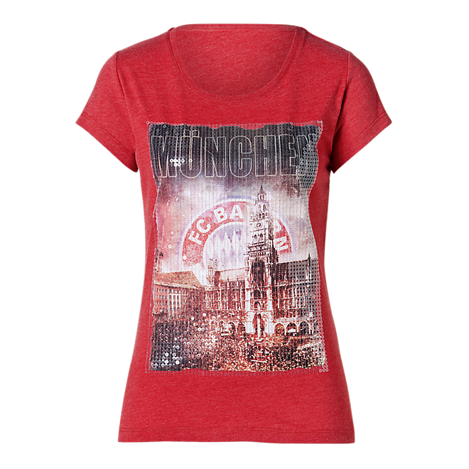 Damen T-Shirt Marienplatz Pailletten