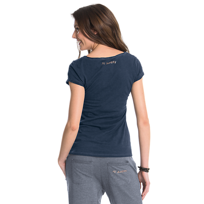 Damen T-Shirt rose-gold Logo