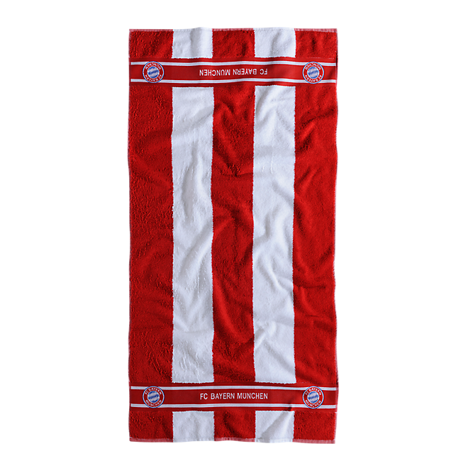 Shower Towel Red/White