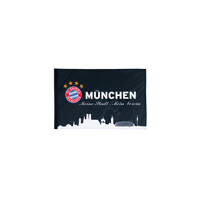 Flag München black 60 x 40 cm with stick