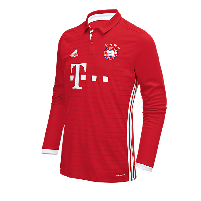 FC Bayern Kindertrikot Home Langarm 16/17