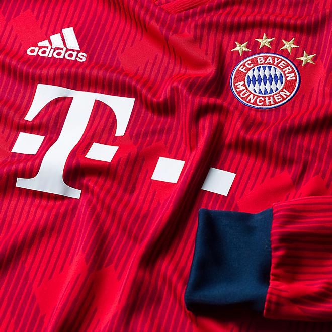 Camiseta de manga larga de local para niño FC Bayern München 18/19
