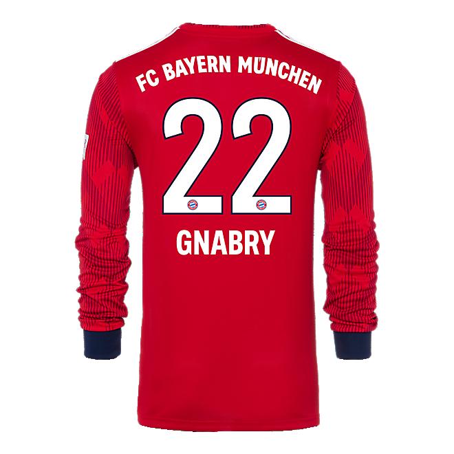 FC Bayern Kids Jersey Home Longsleeve 18/19