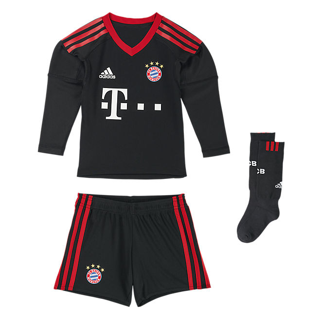 fc bayern torwart mini kit 2017 18 offizieller fc bayern fanshop. Black Bedroom Furniture Sets. Home Design Ideas