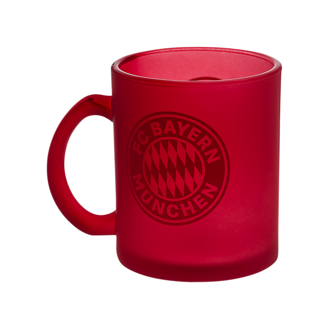 Glass Mug red