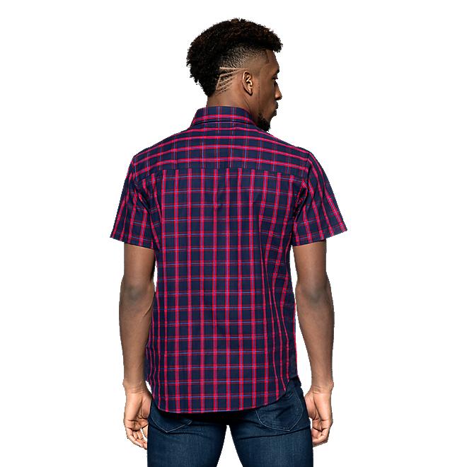 Camisa a cuadros de manga corta con escudo
