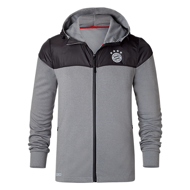 Hooded Zip-Jacket FCB Sports anthracite