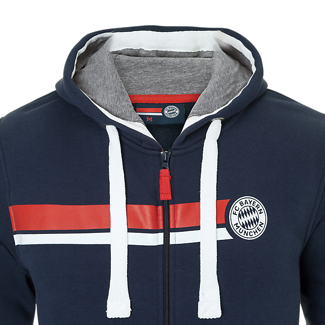 Hooded Sweat Jacket Stripes