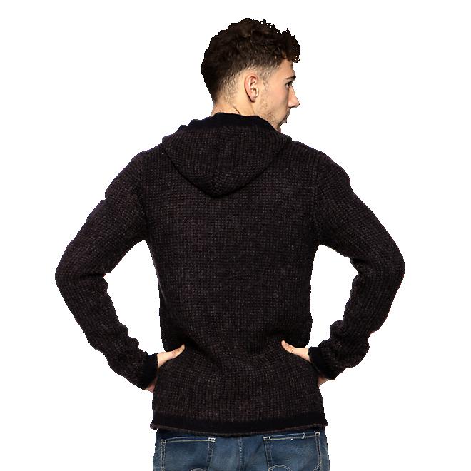 Hooded Knit Jacket Emblem