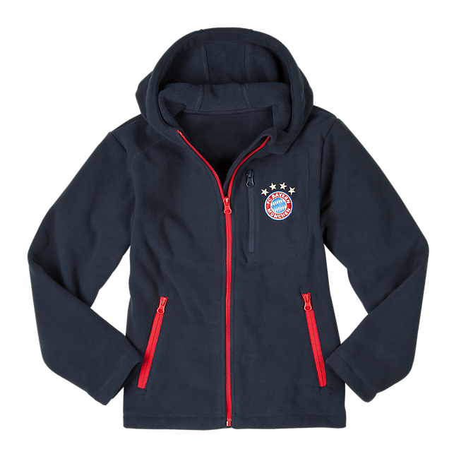 Kinder Fleecejacke Logo