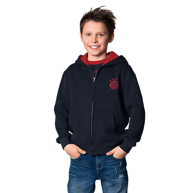 Kinder Zip-Hoodie FC Bayern