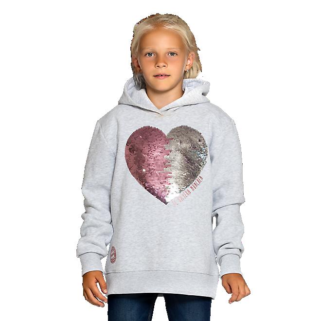 Sudadera con capucha corazón para niña