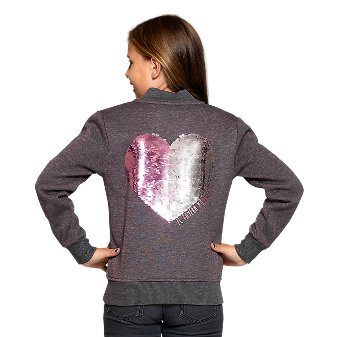 Girls Sweat Jacket Heart