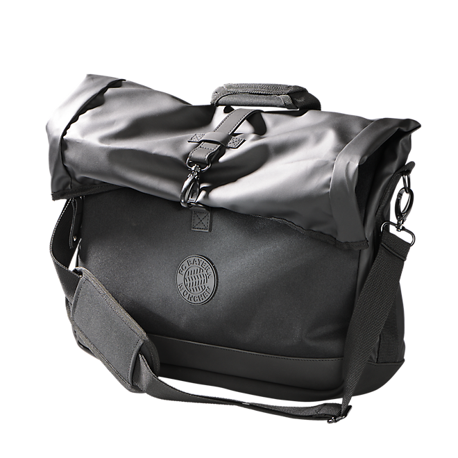 Messenger-Bag Black Logo