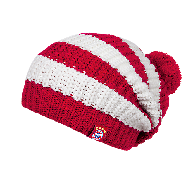 Bobble Hat Stripes red/white