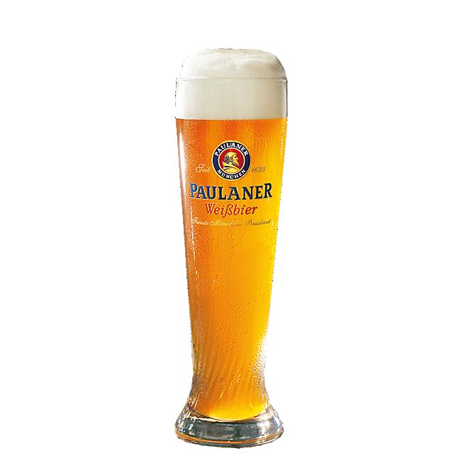Vaso Paulaner para cerveza de trigo