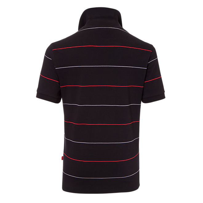 Poloshirt Black Logo Stripes