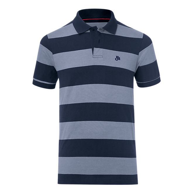 Striped FCB Polo Shirt