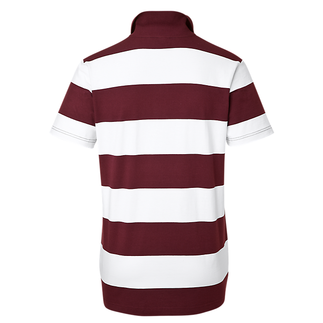 Poloshirt Stripes bordeaux/weiß