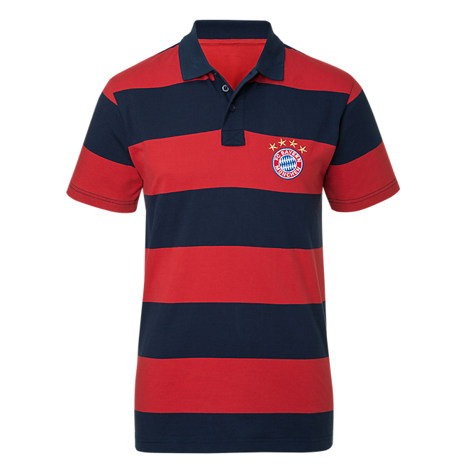 Polo shirt stripes red/navy