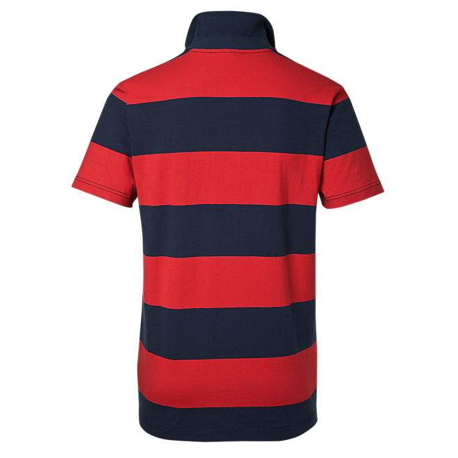Poloshirt Stripes rot/navy