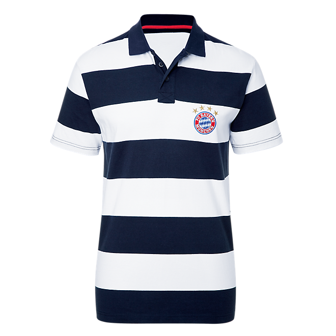Poloshirt Stripes white/navy