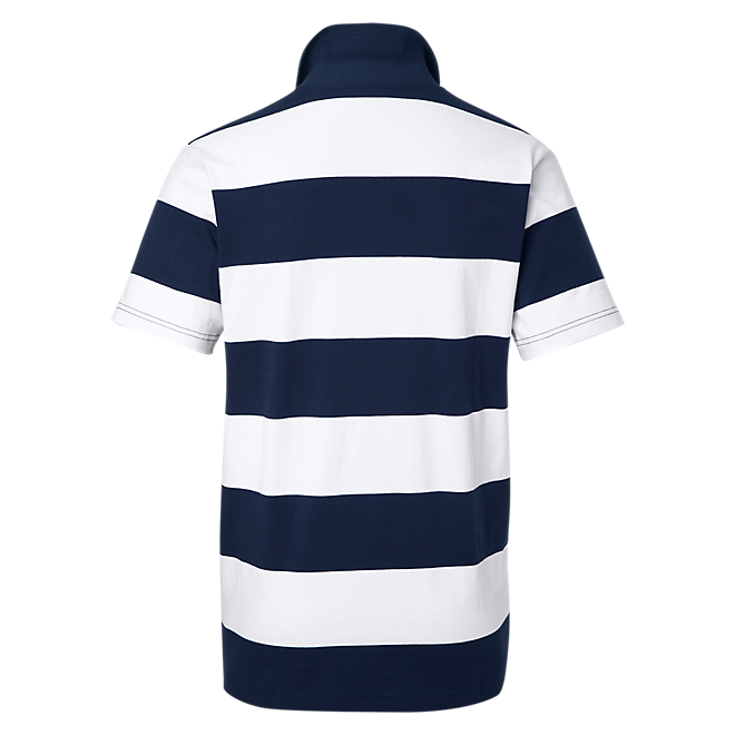 Poloshirt Stripes weiß/navy