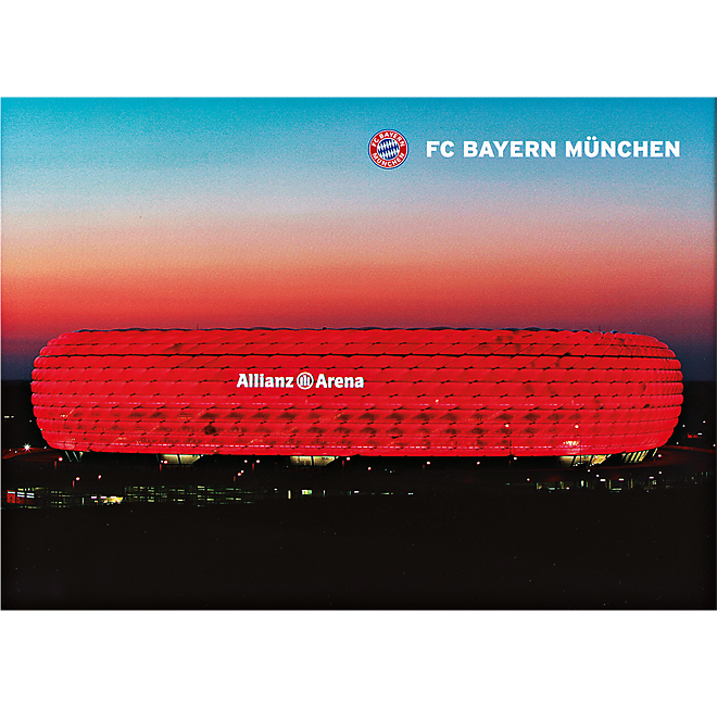 poster allianz arena bei nacht offizieller fc bayern fanshop. Black Bedroom Furniture Sets. Home Design Ideas