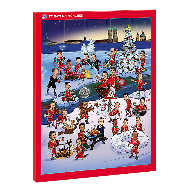 Chocolate Advent Calendar 2017 Official Fc Bayern Online