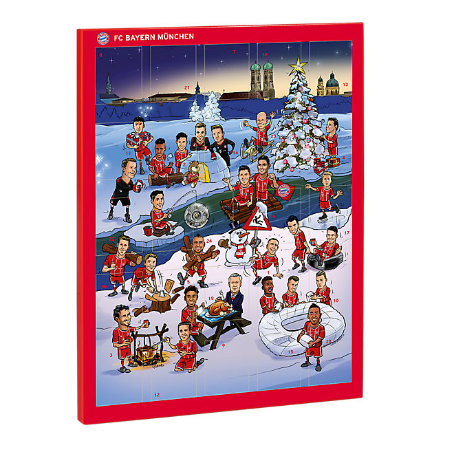 Charmant Schoko Adventskalender 2017