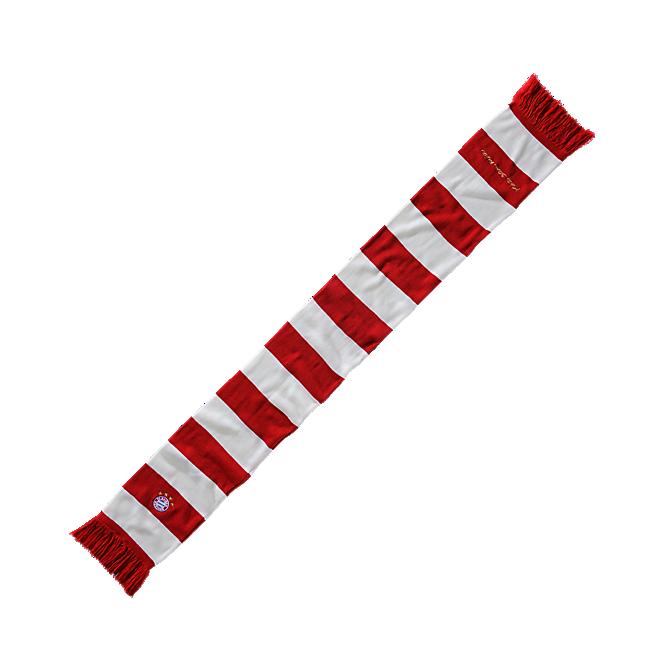 Strickschal rot/weiß